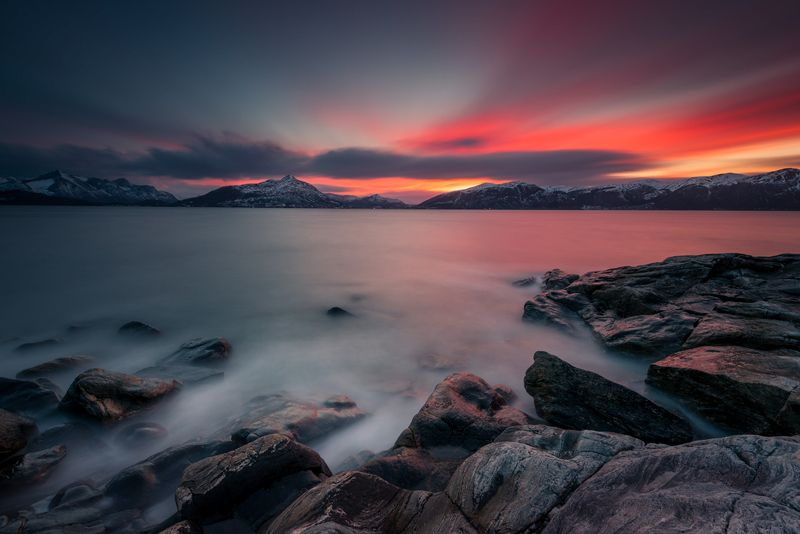 norway,landscape,light,sunset photo preview