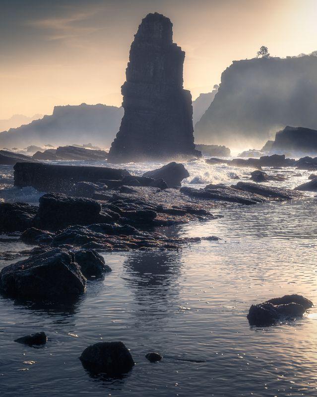 landscape, asturias, spain, астурия, испания, скалы, океан, пейзаж Punta Formigosaphoto preview