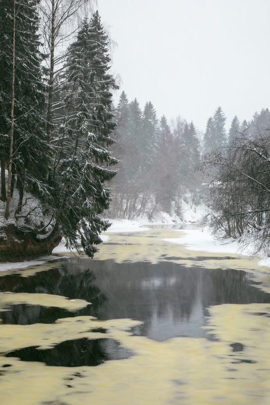 зима, река, день, снег, пейзаж На исходе зимыphoto preview