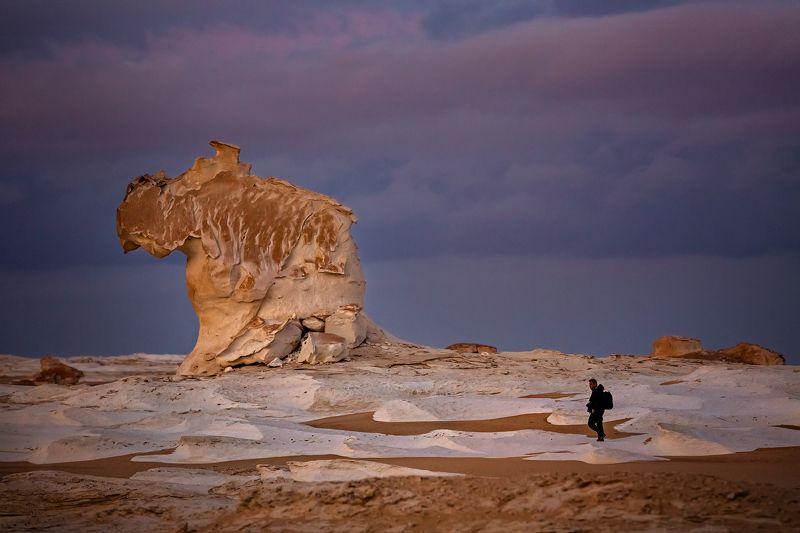 Египет ,Африка, пустыня , закат , пейзаж ,Afryca , Egypt , desert , Black and White Desert Закат .photo preview
