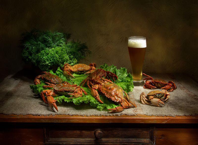 натюрморт, краб, крабы, пиво, зелень К праздничному столу:)photo preview