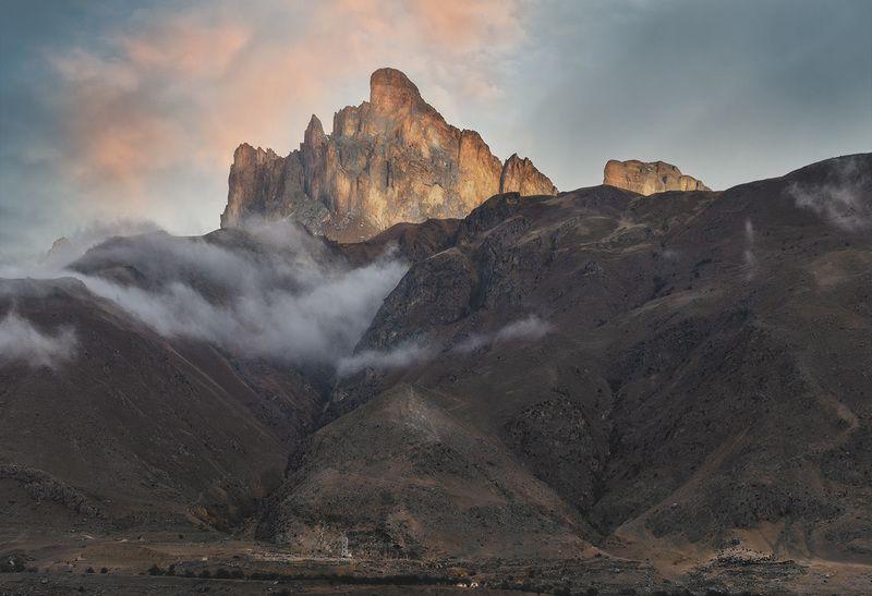 горы, природа, кбр, туман, зима, кавказ, пейзаж, ***photo preview