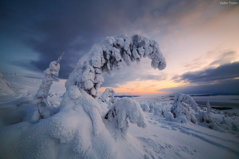 кольский, север, заполярье В снежных оковахphoto preview