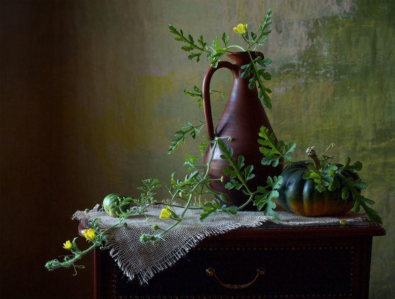 миламиронова, фотонатюрморт, осень, тыква,  настроение В огороде тыква зрела...photo preview