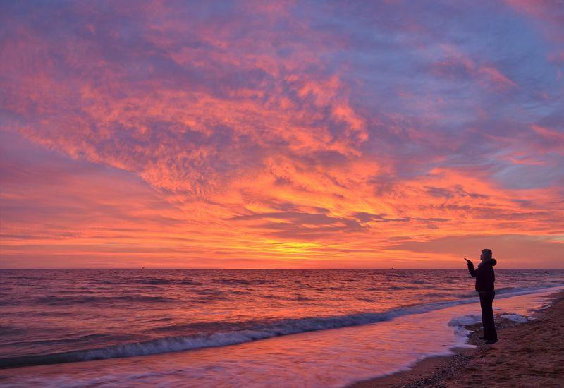 азов, январь, рассвет, восход, утро, небо, облака Получить кайф на рассвете фото превью