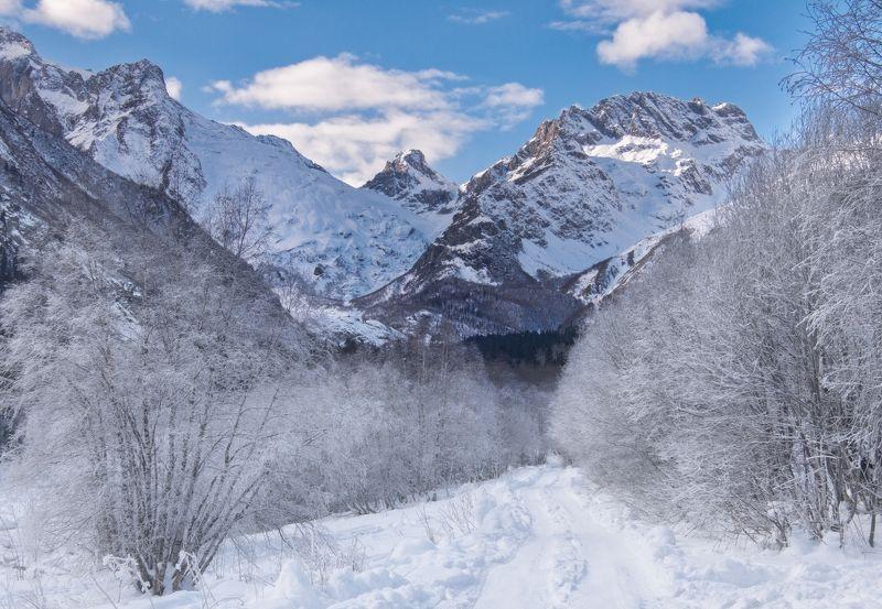 кавказ,сулахат,горы Дорога к мечтеphoto preview