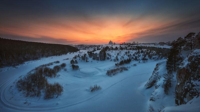 озеро, горы, лес, природа, закат, рассвет, красота, приключения, путешествие, облака, урал Арамашевские закатыphoto preview