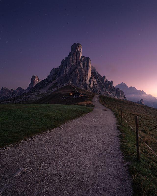 dolomites, alps, горы, альпы, италия, ночь, рассвет, italia, italy, veneto Night at Giau Passphoto preview