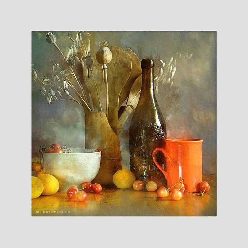 натюрморт дмитрук оранжевая чашка. студия непрерывного света 26photo preview