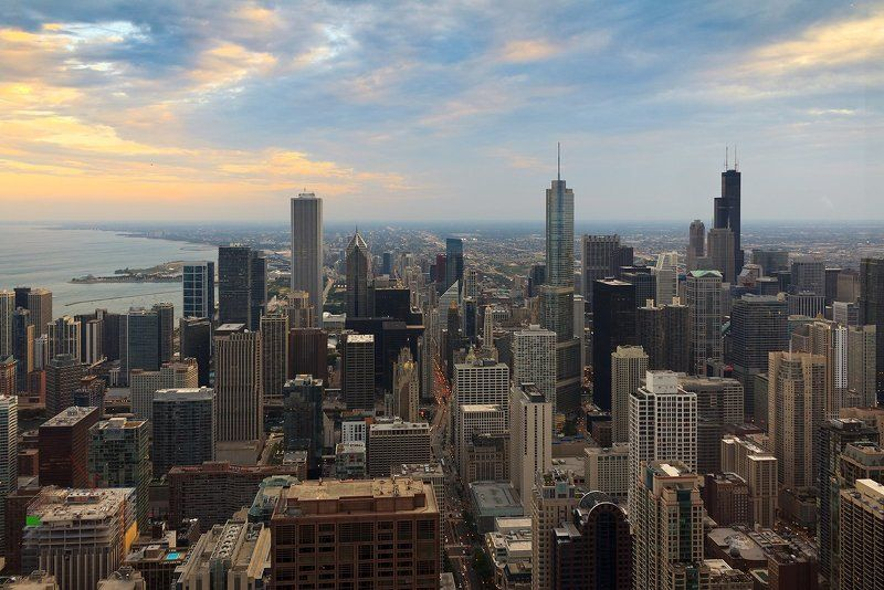 Закат в Чикагоphoto preview