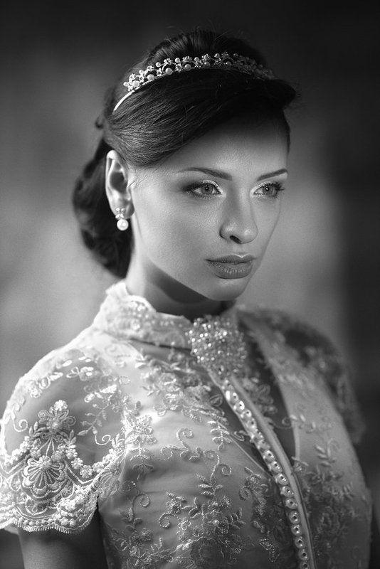 Beauty, Wedding, Women, Девушка, Портрет, Портрет девушки, Черно-белое Roman Holidayphoto preview