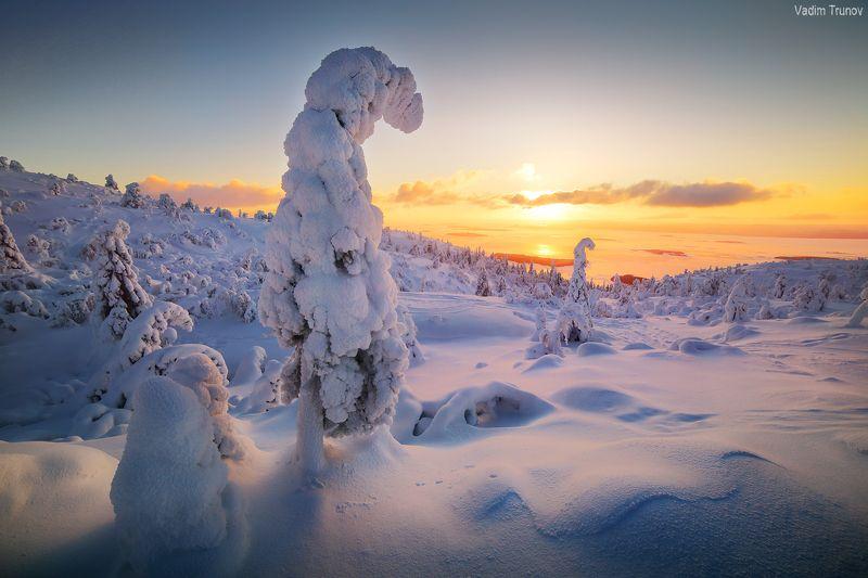 кольский, север, заполярье Зимнее утро на Кольскомphoto preview