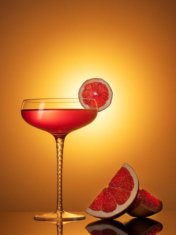 бокал, коктейль, напиток, напитки, апельсин, грейпфрут, предметная фотография, предметка, ***photo preview