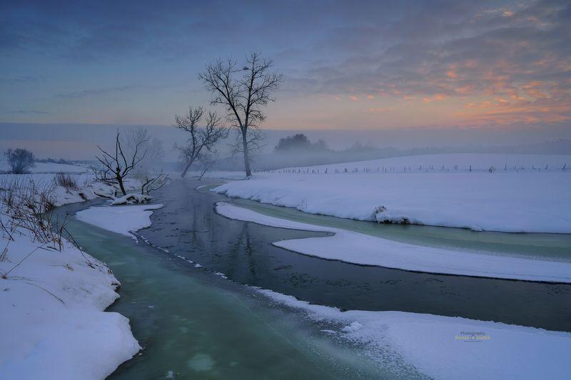 winter, Kociewie, Poland, landscape, winter, clouds, sunset, Winter in Kociewie. фото превью
