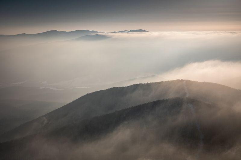mountains, winter, poland, slovakia, ukraine, sunrise Morning in the Mountainsphoto preview