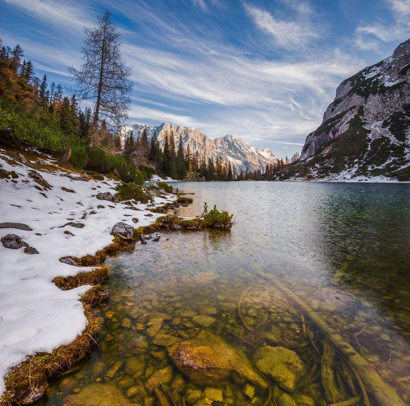 горное озеро, австрия, горы, облака, зеебензее Озеро Зеебензее. Австрия.photo preview