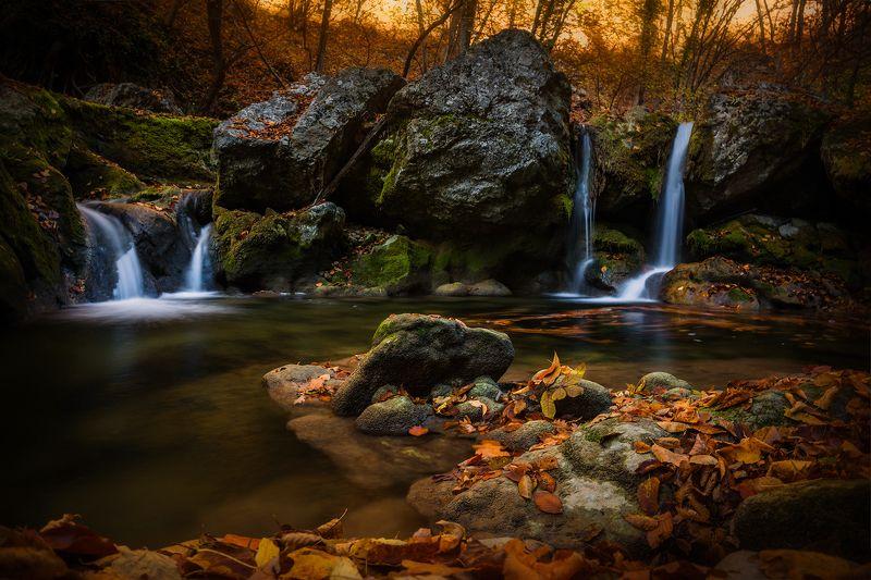 крым, пейзаж, осень, большой каньон, каньон, водопад, листья Про осень...photo preview
