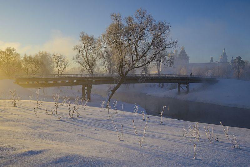 зима, утро, мост, река, истра Те места, что душу трогают...photo preview