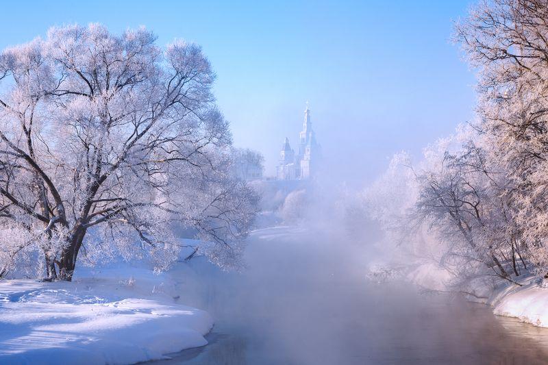 зима, подмосковье, истра Утро в Подмосковьеphoto preview