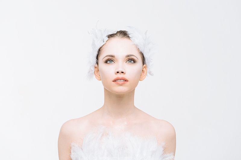 девушка, портрет, милая, cute, portrait, образ, лебедь, балерина Белый лебедьphoto preview