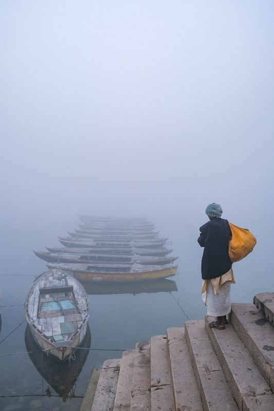 man boats waiting colours Endless journey...photo preview