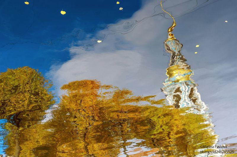 город, петербург, осенний петербург, петербургские акварели, отражения на воде, акваабстракция, акваграфика, абстракция, парейдолия, nikon Осенний акварельный Петербург...photo preview
