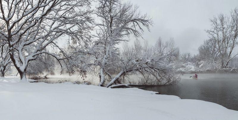 зима, снег, кубань, краснодар, солнечный остров, байдарочники, зимняя сказка, анатолий щербак Приключение Кубанской зимы в парке \