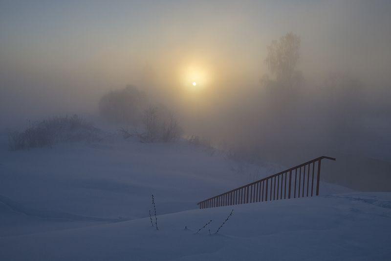 утро, рассвет, зима, истра Мороз зиме за обычайphoto preview