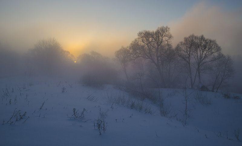 утро, рассвет, зима, истра На востоке февраляphoto preview