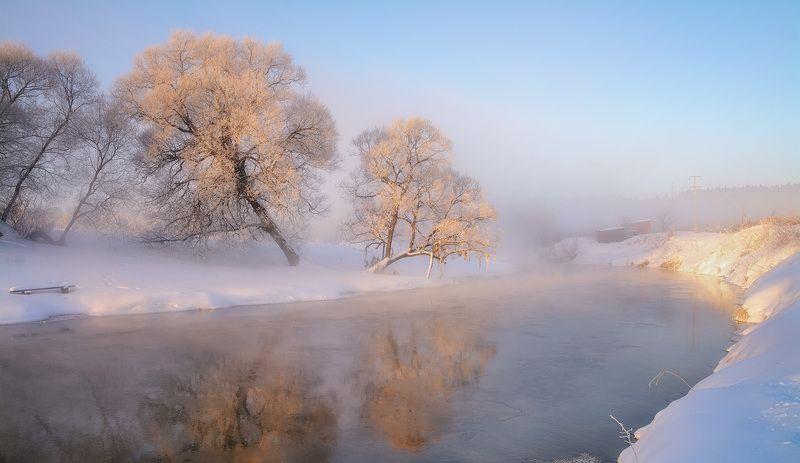 Рассвет на реке.photo preview