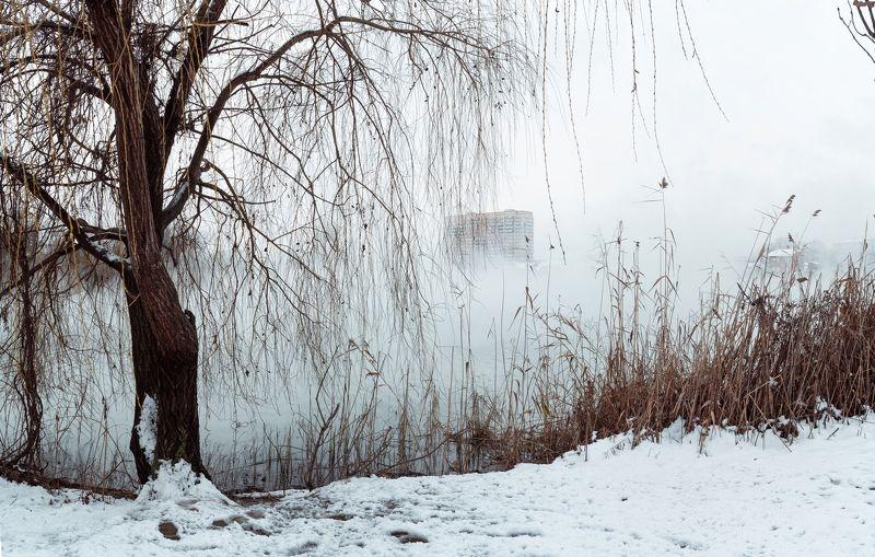 зима, снег, кубань, краснодар, солнечный остров, байдарочники, зимняя сказка, анатолий щербак Екатеринодарская зима.photo preview