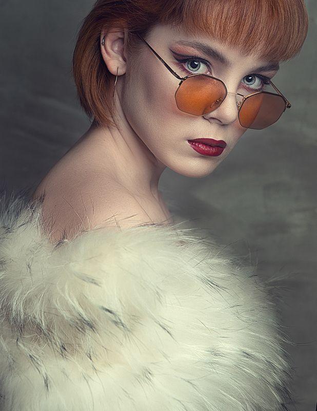 рыжая очки глаза портрет Настяphoto preview