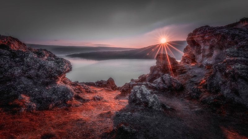 #landscape#nature#lake Red planetphoto preview