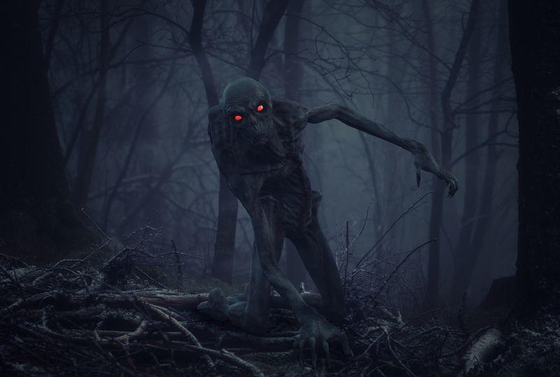 лес, монстр *****photo preview