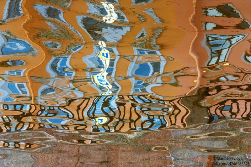 город, петербург, мистический петербург, крюков канал, отражения на воде, акваабстракция, акваграфика, абстракция, nikon \
