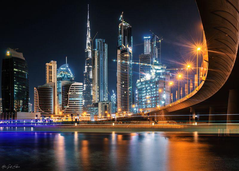 city,cityscape,longexposure,dubai,night,lights,photography photo preview