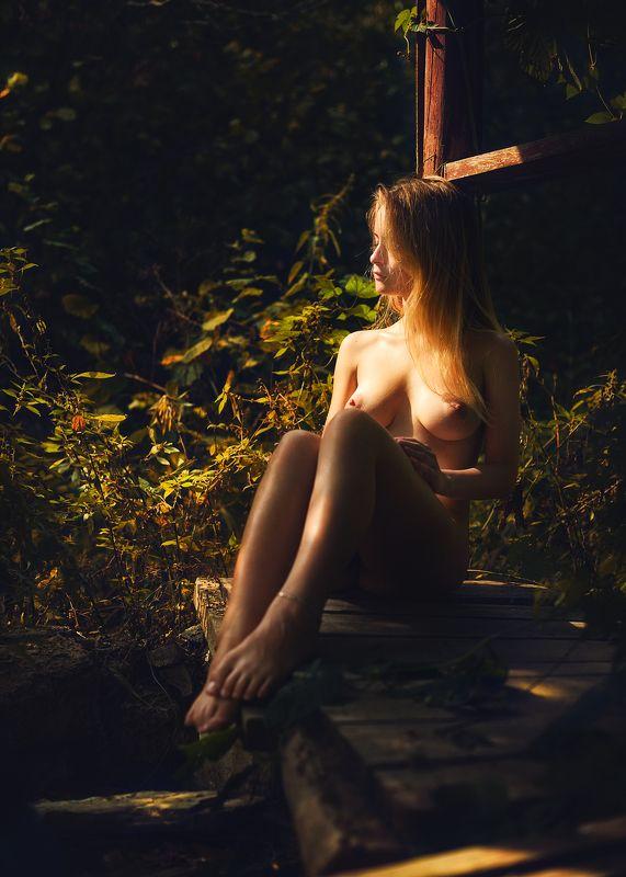 девушка, модель, ню Нежась на солнышке.photo preview