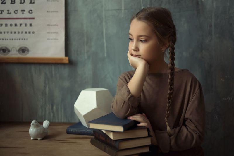 детский портрет, портрет, естественный свет, 50mm Дочь профессора photo preview