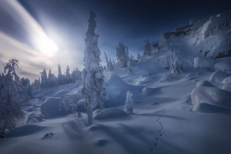 озеро, горы, лес, природа, закат, рассвет, красота, приключения, путешествие, облака, урал Магия Качканараphoto preview