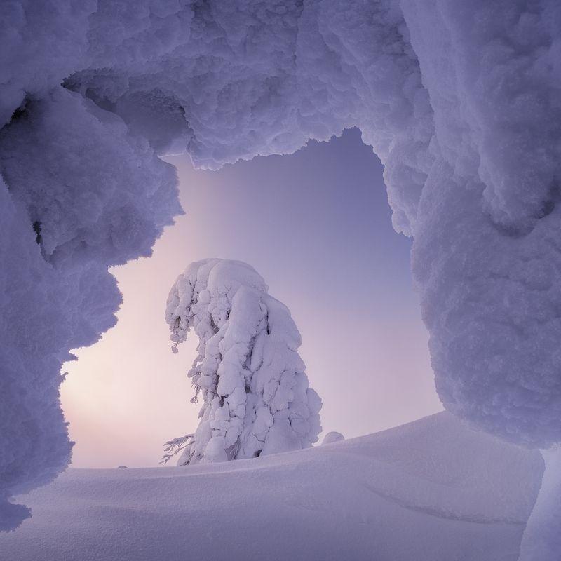 рассвет, главный уральский хребет, гух, зима, урал, северный урал Снежные вратаphoto preview