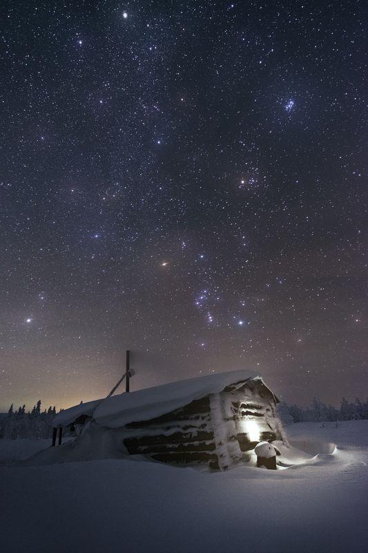 ночь, главный уральский хребет, гух, зима, урал, северный урал, астро, большая медведица Звезды разбросала ночьphoto preview