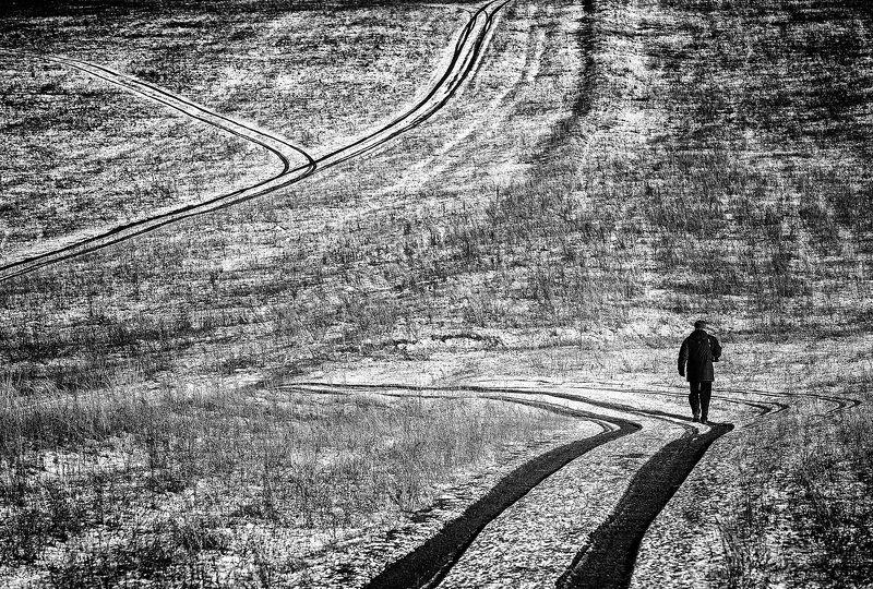 пейзаж,осень,дороги,человек,путник,одиночество photo preview