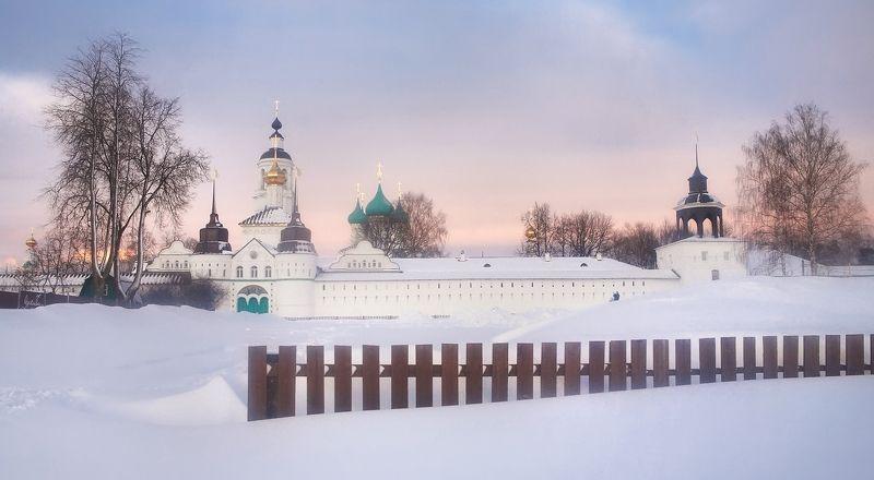 ярославль, закат, зима, монастырь, снег Толгский монастырь на закатеphoto preview