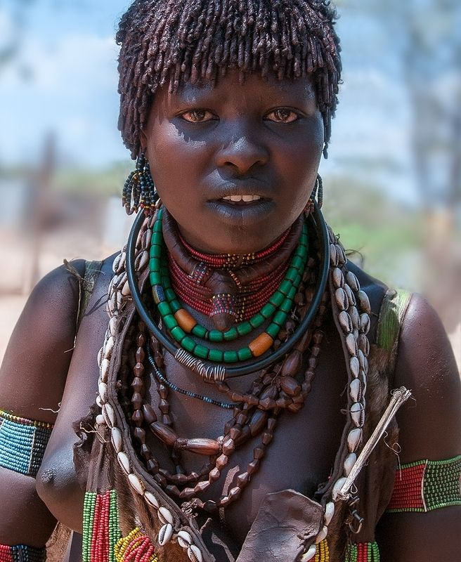 A woman with a hamer tribe in Ethiopiaphoto preview