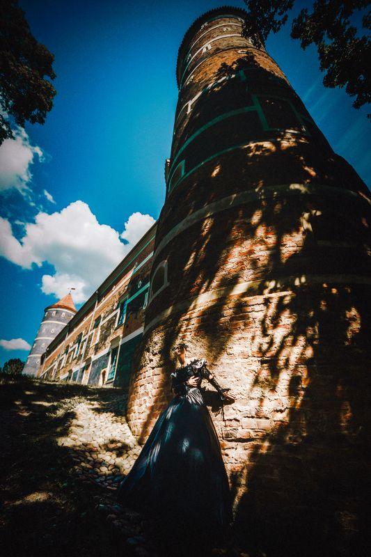 woman, portrait, conceptual, outdoors, castle Shadows of the Castlephoto preview