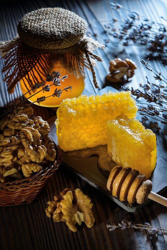 мед, фудфото, орехи, еда, натюрморт Мёдphoto preview