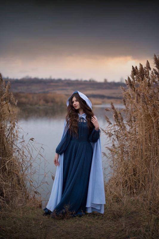 девушка, сказка, природа, озеро, фантазия, красота, брюнетка Ангелинаphoto preview