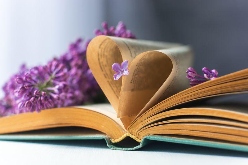 весна, цветы, сирень, книга, любовь, сердце, страницы Любовные запискиphoto preview
