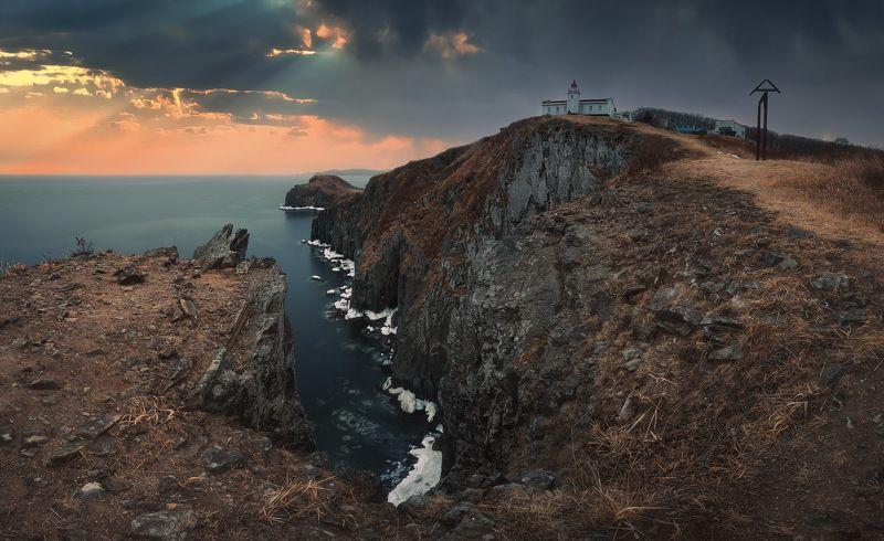 маяк, скалы, море ***photo preview