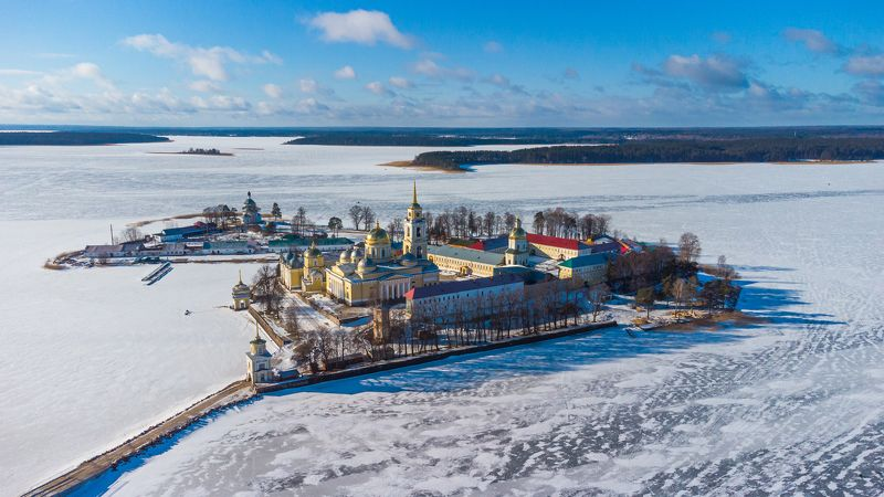 Зимний Селигер Нилова пустыньphoto preview